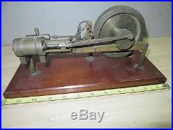 Vintage model Toy steam engine brass nice one of a kind