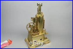 Vintage wilesco D457 standing live steam engine, german tin toy