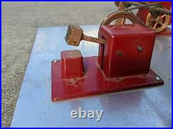 Vtg Jensen Steam Engine Accessories Mounted on Metal Topped Board 17x17