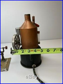WEEDEN Electric Boiler Steam Engine Toy With Wilesco Tin Toy Man on A Drill Press
