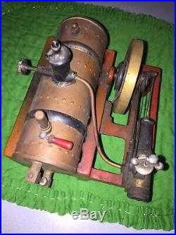 WEEDEN No 14 horizontal STEAM ENGINE copper boiler governor whistle sight glass