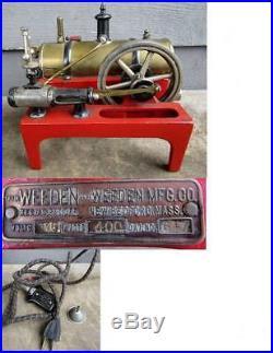 WEEDEN No. 647 ELECTRIC TOY STEAM ENGINE - vg cond+