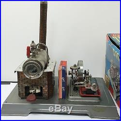 WILESCO D10 Toy Steam Engine Western Germany withbox, & Extras