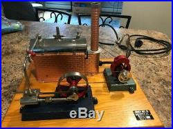 WOW! Vintage 1950 Rare JENSEN STYLE 10 MODEL STEAM ENGINE ELECTRIC DYNAMO PLANT