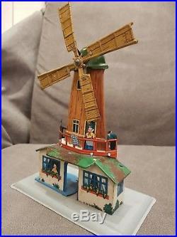 W. Krauss Dutch Windmill Steam Engine Accessory Automaton, Germany, 1920's
