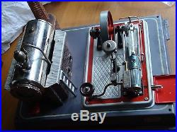 Wiesco Toy Steam Engine With Grinder Drill Saw Western Germany Excellent Cond