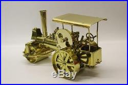 Wilesco Brass Steam Roller Traction Engine Model Collectable Boxed RARE Toy