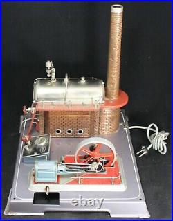 Wilesco D24 Steam Engine 110v Electric Model Vintage