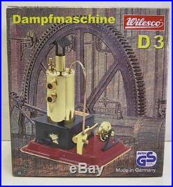 Wilesco D3 New Toy Steam Engine With Brass Boiler Must See