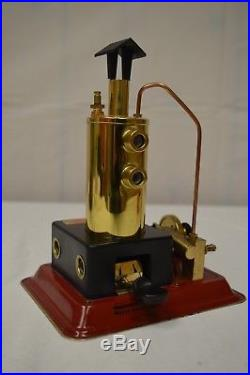 Wilesco D3 Toy Steam Engine With Brass Boiler With Original Box- Very Nice