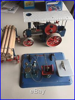 Wilesco D405 Toy Steam Engine Log Trailer And Saw