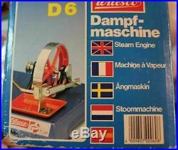 Wilesco D6 + M 74 Toy Steam Engine Sheers Grinder Machine NICE Burner + Box