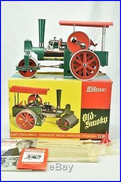 Wilesco D 36 Steam Engine Roller Old Smoky West Germany Damppf-strassenwalze box