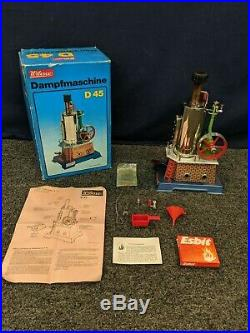 Wilesco Dampfmaschine Steam Engine Model D 45 Machine Toy Collectible Germany