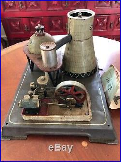 Wilesco R200 Atomic Power Plant Steam Engine Toy 1950's instructions NEVER USED