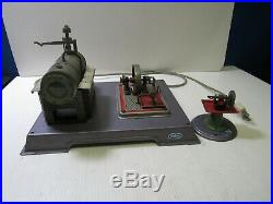 Wilesco Steam Engine 110V Operating Model with Toy Grinder Model # 52