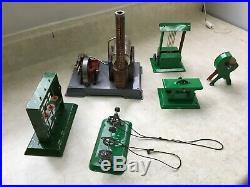 Wilesco steam engine set with 5 accessories vintage toy