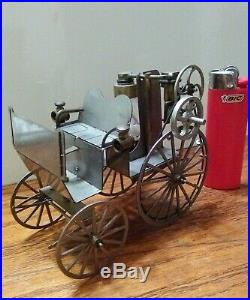 Worlds smallest production steerable live steam coach engine boiler Car toy