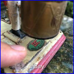 Wow! Antique Rare Lead Tin Soldier Drum Steam Engine Accessory Toy Doll Germany