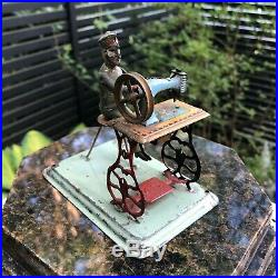 Wow! Antique Rare Tailor Sewing Machine Tin Steam Engine Accessory Toy! Marklin